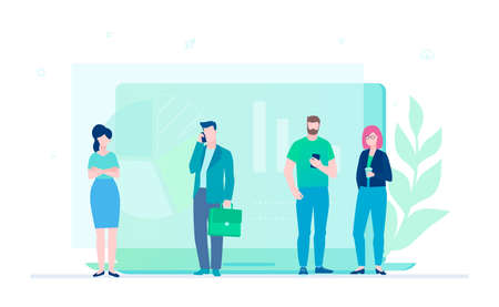 Business analytics - flat design style colorful illustration
