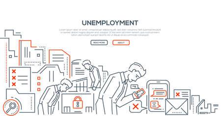 Unemployment - modern line design style illustration