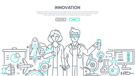 Innovation - line design style isolated illustration