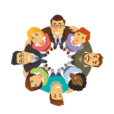 Business team - cartoon people character isolated illustration Stockfoto