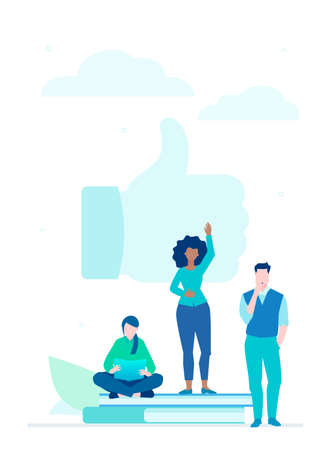 Social networking - flat design style colorful illustration