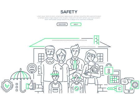Safety - line design style banner