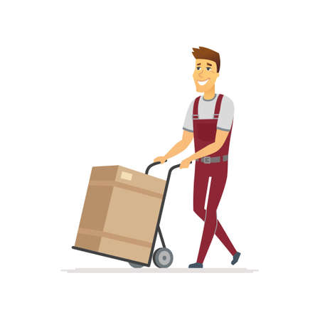 Delivery service - cartoon people characters isolated illustration