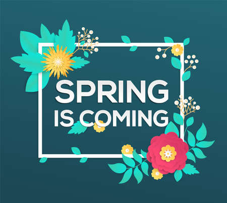 Spring is coming - modern vector colorful illustration