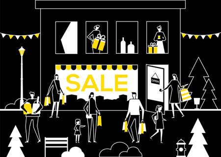 Big Sale - flat design style vector illustration Illustration