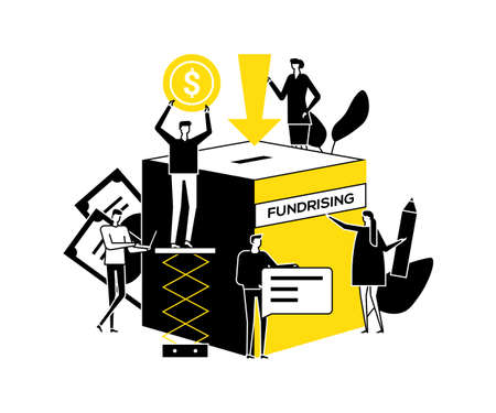 Make a donation - flat design style illustration