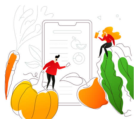Healthy nutrition - flat design style colorful illustration Standard-Bild - 125624485