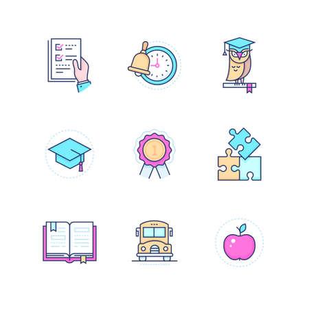 School concepts - modern line design style icons set Stockfoto - 125624492