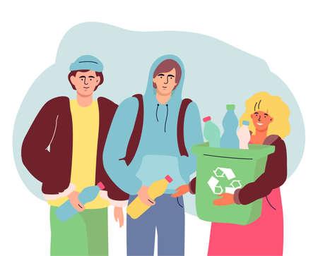 Recycling - modern colorful flat design style illustration Illustration