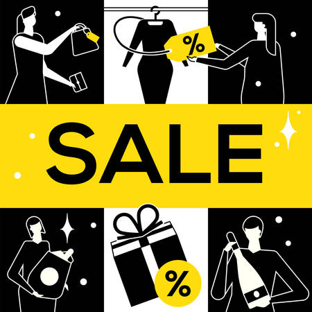 Big Sale - flat design style vector illustration Illustration