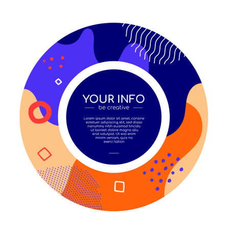 Colorful abstract brochure - modern flat design style banner Ilustração