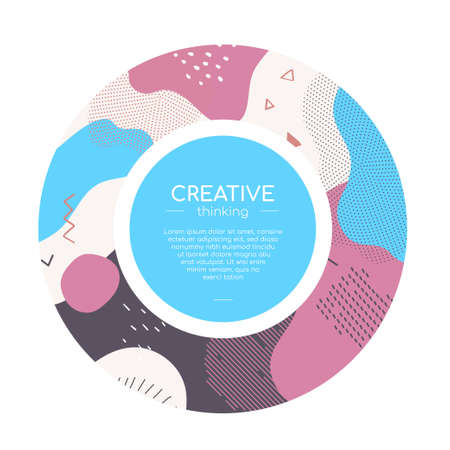 Colorful abstract brochure - modern vector web banner