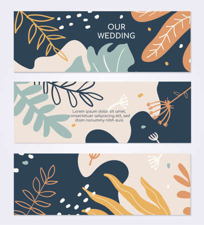 Marriage ceremony invitation vector colorful card template 向量圖像