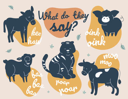 What do they say - modern vector illustration