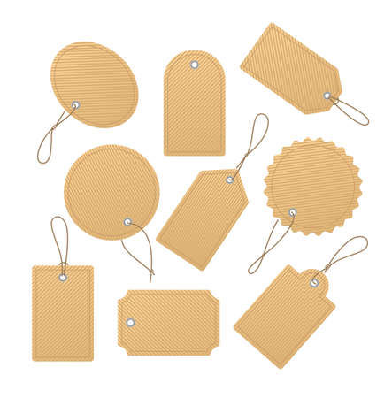 Price tags collection - modern realistic clip art Illustration