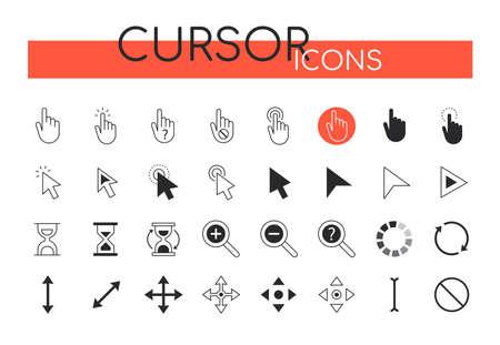 Cursor icons - set of web elements