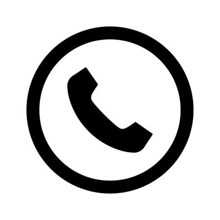 phone icon vector. phone in round flat icon symbol