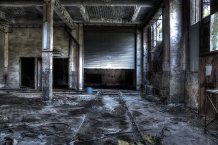 garage door in a french factory photo