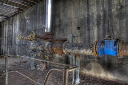 industrial wasteland: pipes