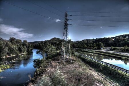 electricity pylon Imagens - 47284301