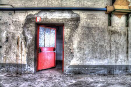 red door Stockfoto