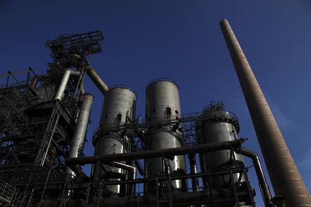 industrial wasteland: factory pipes