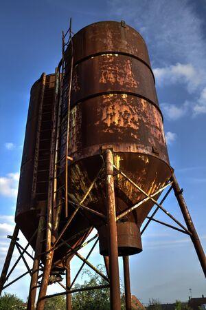 rusty silo Stockfoto