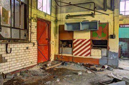 industrial wasteland: red fire door
