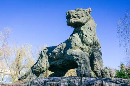 animal figurines: Figurine of tiger
