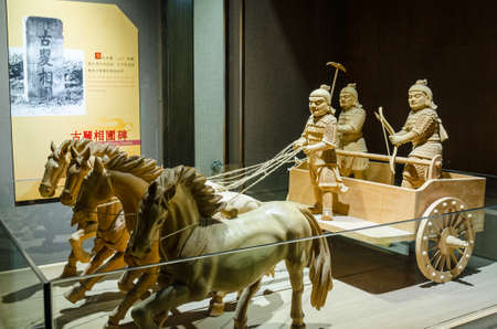 Warring States carriage model, in the Beijing Imperial Academy and the Confucian