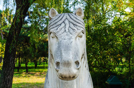 horse sculpture in Ming Dynasty Tombs