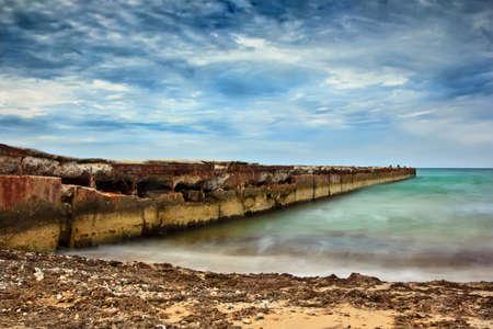 Sea water on long exposure photo