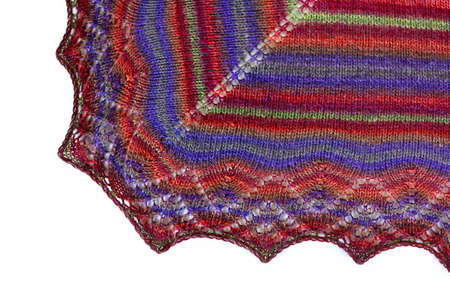 fascination: Hand-made knitted shawl Stock Photo