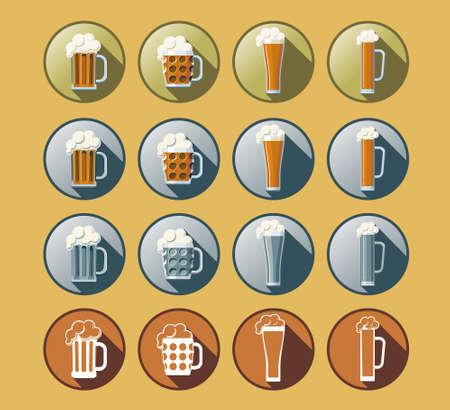 flowed: Set of 16 beer icons