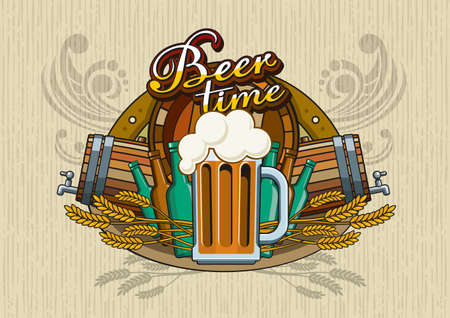 flowed: Beer theme for bar menu, label or poster