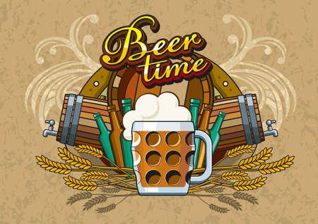 flowed: Beer theme for Bar menu or poster