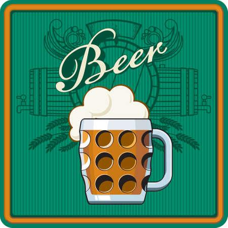 flowed: Beer theme for Bar menu, poster or label