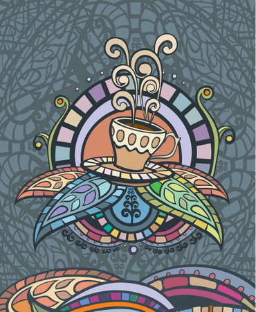dekor: Template of Coffee menu Cover, label or poster