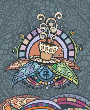dekor: Template of Coffee menu Cover, label or poster