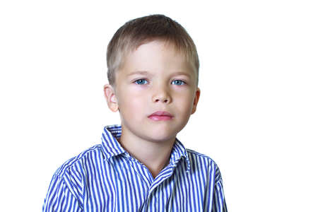 6 year old: Calm portrait of 6 year old boy Stock Photo