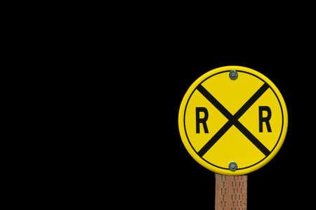 Pedestrian railroad crossing sign