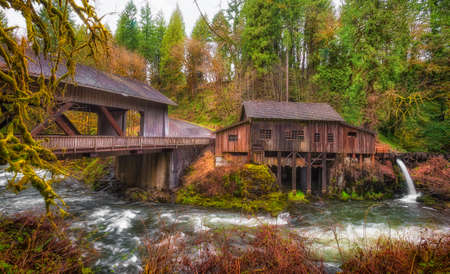 Listed on the national Register of Historic Places, Cedar Creek Grist Mill is a water-powered mill.  It was built in 1876 and has been structurally restored to its current condition. A historical covered bridge crosses the creek of the same name.