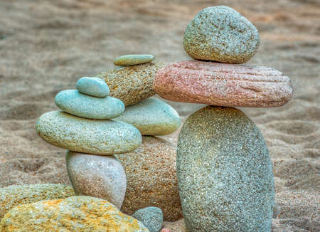 A grouping of stacked river rock found on the banks of the Sandy River at Oxbow Park near Gresham, Oregon.  A section of the beach is filled with stacked rocks created by those who visit the area.  To learn more about the River Rock Tribe, read my blog, The River Rock Tribe.