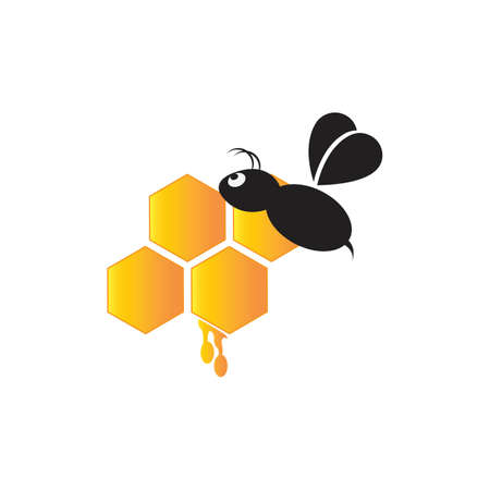 Bee vector icon illustration 矢量图像
