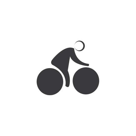 Bicycle vector template Ilustrace