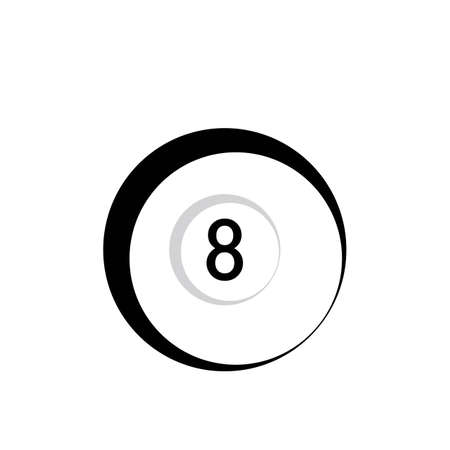 Billiard template vector icon design - Vector billiard balls icon Vector illustration design template - Vector Çizim