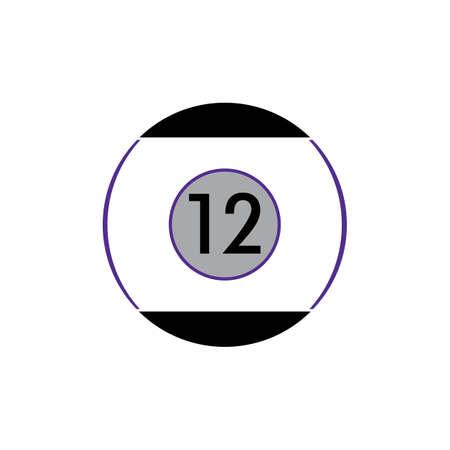 Billiard template vector icon design - Vector billiard balls icon Vector illustration design template - Vector