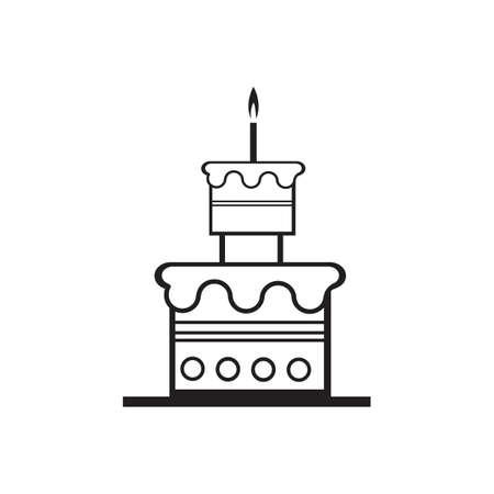 birthday cake icon vector design template Stock Illustratie