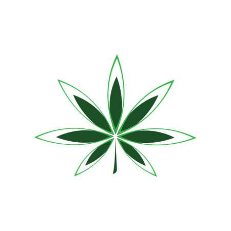 Cannabis leaf vector illustration icon design vector cannabis or marijuana icon for medical or pharmacy industry