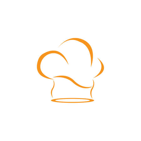 hat chef template vector illustration
